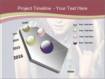 Beautiful girl PowerPoint Template - Slide 26