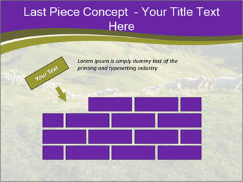 Sheep running PowerPoint Template - Slide 46