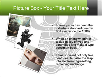 Fearsome monochrome PowerPoint Template - Slide 17