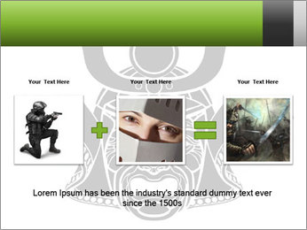 Fearsome monochrome PowerPoint Template - Slide 22
