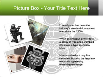 Fearsome monochrome PowerPoint Template - Slide 23