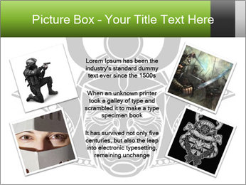Fearsome monochrome PowerPoint Template - Slide 24