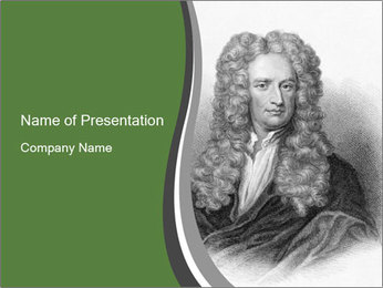 Isaac Newton PowerPoint Template - Slide 1