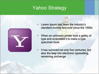Snowboarder at jump PowerPoint Template - Slide 11