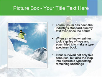 Snowboarder at jump PowerPoint Template - Slide 13