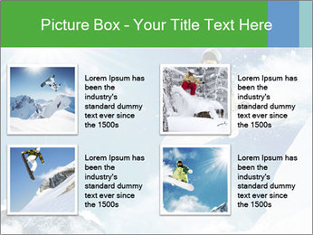 Snowboarder at jump PowerPoint Template - Slide 14