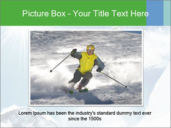Snowboarder at jump PowerPoint Template - Slide 15
