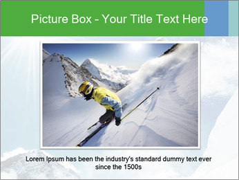 Snowboarder at jump PowerPoint Template - Slide 16