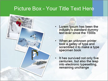 Snowboarder at jump PowerPoint Template - Slide 17