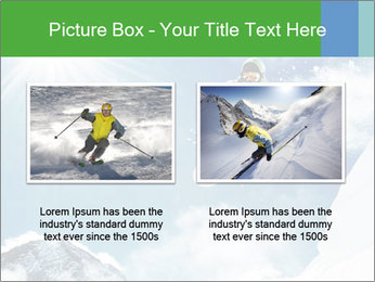 Snowboarder at jump PowerPoint Template - Slide 18