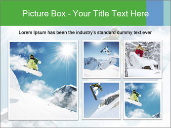 Snowboarder at jump PowerPoint Template - Slide 19