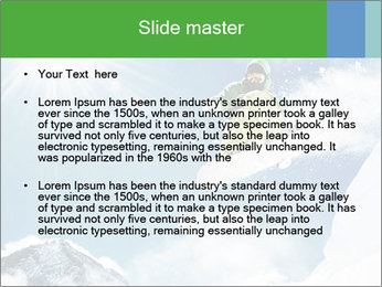 Snowboarder at jump PowerPoint Template - Slide 2
