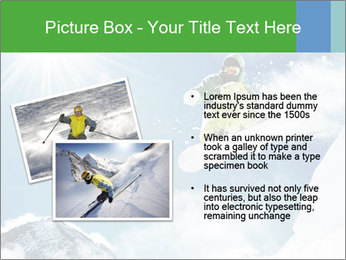 Snowboarder at jump PowerPoint Template - Slide 20