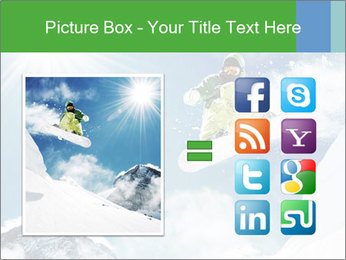 Snowboarder at jump PowerPoint Template - Slide 21
