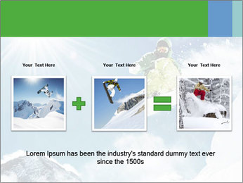 Snowboarder at jump PowerPoint Template - Slide 22