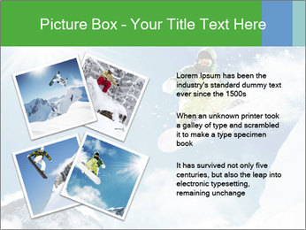 Snowboarder at jump PowerPoint Template - Slide 23