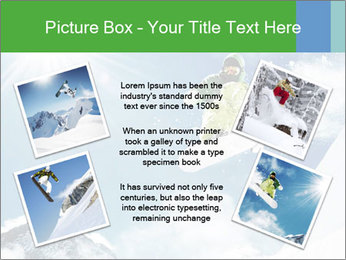 Snowboarder at jump PowerPoint Template - Slide 24