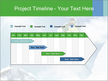 Snowboarder at jump PowerPoint Template - Slide 25