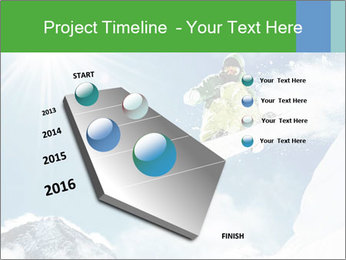 Snowboarder at jump PowerPoint Template - Slide 26