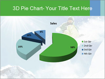 Snowboarder at jump PowerPoint Template - Slide 35