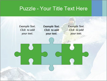 Snowboarder at jump PowerPoint Template - Slide 42