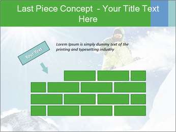 Snowboarder at jump PowerPoint Template - Slide 46