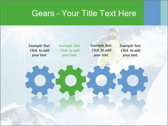 Snowboarder at jump PowerPoint Template - Slide 48