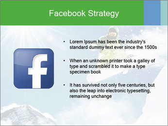 Snowboarder at jump PowerPoint Template - Slide 6