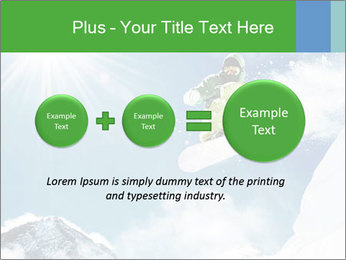 Snowboarder at jump PowerPoint Template - Slide 75