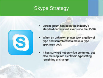 Snowboarder at jump PowerPoint Template - Slide 8