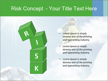 Snowboarder at jump PowerPoint Template - Slide 81