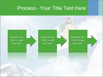 Snowboarder at jump PowerPoint Template - Slide 88