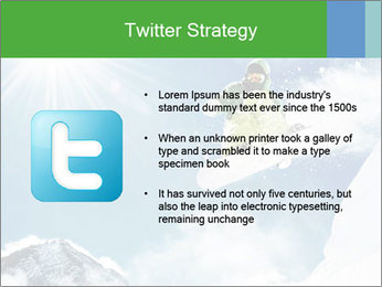 Snowboarder at jump PowerPoint Template - Slide 9
