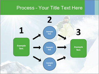 Snowboarder at jump PowerPoint Template - Slide 92