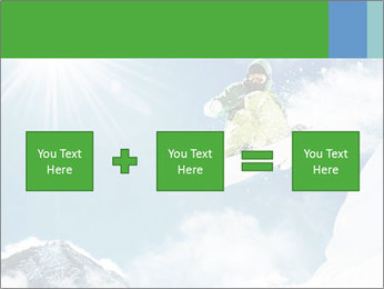 Snowboarder at jump PowerPoint Template - Slide 95