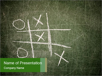 X and O game PowerPoint Template - Slide 1
