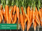 Fresh carrots PowerPoint Template