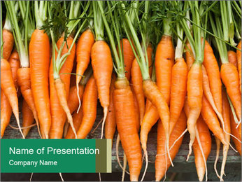 Fresh carrots PowerPoint Template - Slide 1