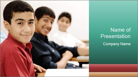 Happy children PowerPoint Template