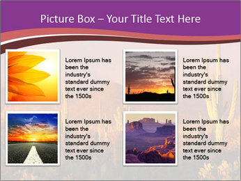 Rainbow sunset PowerPoint Template - Slide 14
