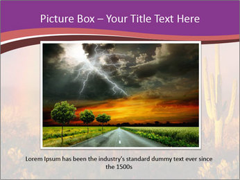 Rainbow sunset PowerPoint Template - Slide 15