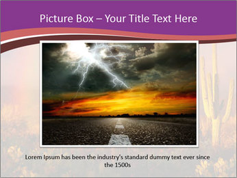 Rainbow sunset PowerPoint Template - Slide 16