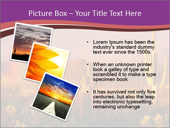 Rainbow sunset PowerPoint Template - Slide 17