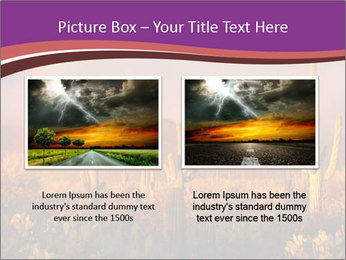 Rainbow sunset PowerPoint Template - Slide 18