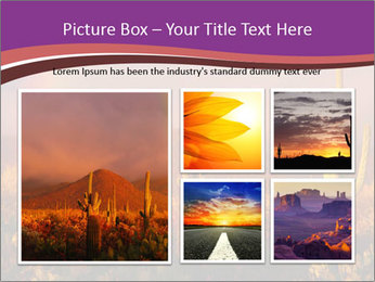 Rainbow sunset PowerPoint Template - Slide 19