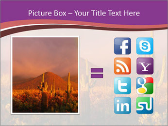 Rainbow sunset PowerPoint Template - Slide 21