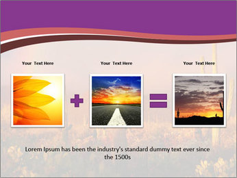 Rainbow sunset PowerPoint Template - Slide 22