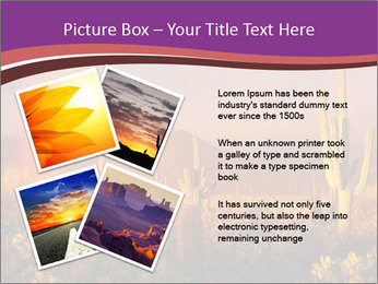 Rainbow sunset PowerPoint Template - Slide 23