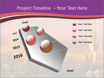 Rainbow sunset PowerPoint Template - Slide 26