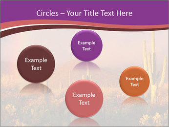 Rainbow sunset PowerPoint Template - Slide 77